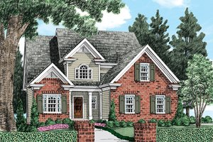 House Design - European Exterior - Front Elevation Plan #927-967