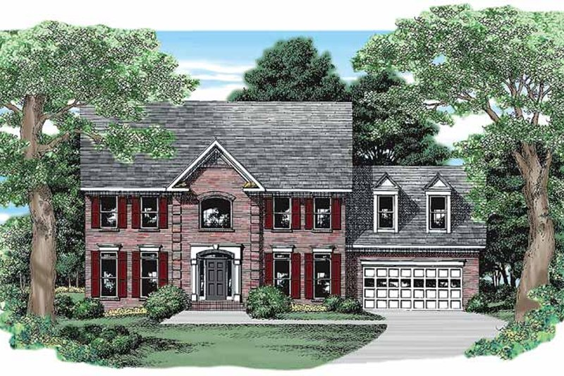 Classical Exterior - Front Elevation Plan #927-110