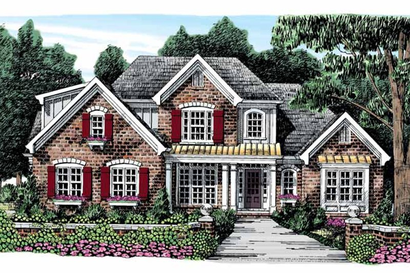 Architectural House Design - Traditional Exterior - Front Elevation Plan #927-874