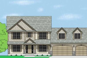 Home Plan - Country Exterior - Front Elevation Plan #981-7