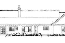 Ranch Exterior - Rear Elevation Plan #942-15