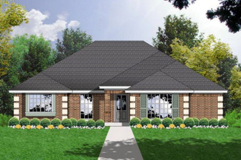 Traditional Exterior - Front Elevation Plan #40-213 - Houseplans.com