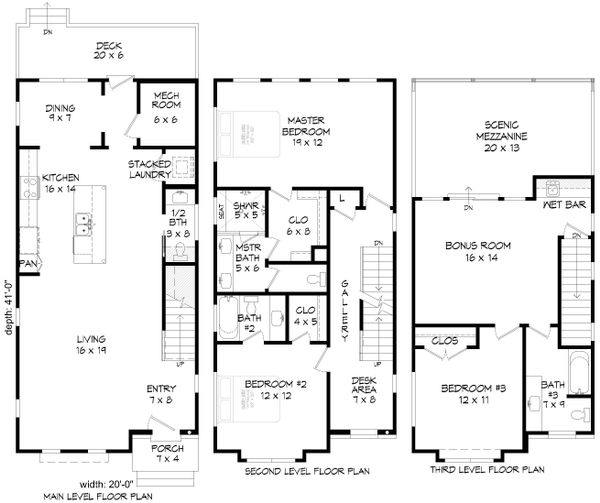 Contemporary Floor Plan - Other Floor Plan #932-196