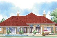 Architectural House Design - Mediterranean Exterior - Rear Elevation Plan #930-300