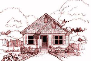 Cottage Exterior - Front Elevation Plan #79-146