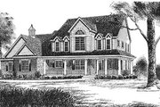 Southern Style House Plan - 4 Beds 2.5 Baths 3180 Sq/Ft Plan #70-526 Photo
