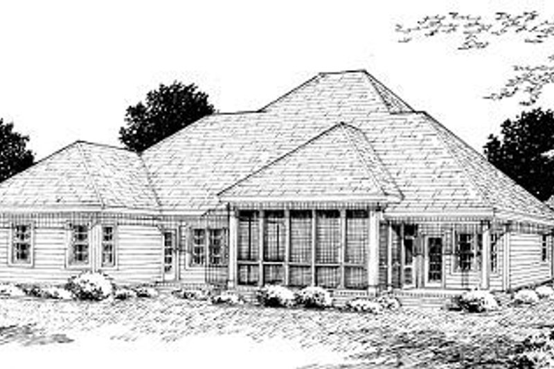 Country Exterior - Rear Elevation Plan #20-289 - Houseplans.com