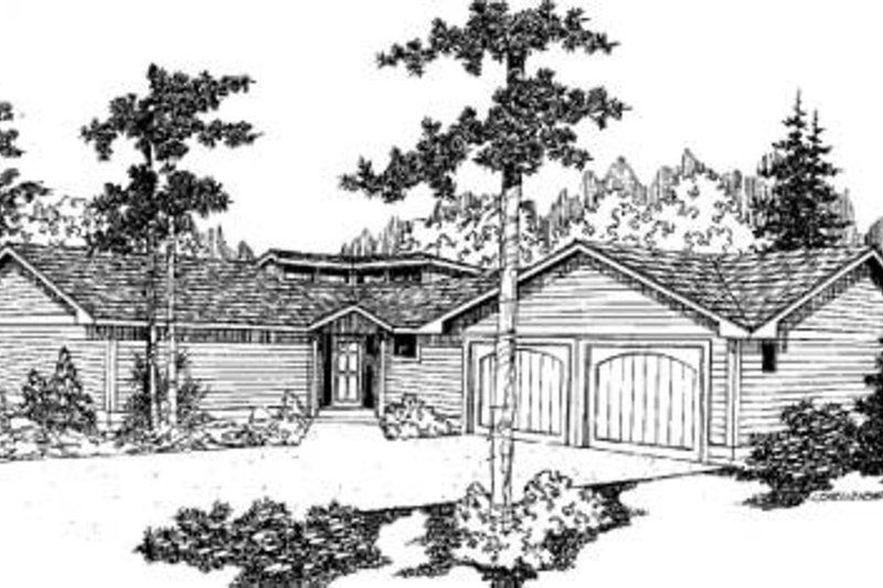 Ranch Exterior - Front Elevation Plan #60-342
