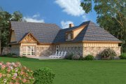 Craftsman Style House Plan - 3 Beds 2 Baths 1292 Sq/Ft Plan #45-374 Exterior - Rear Elevation