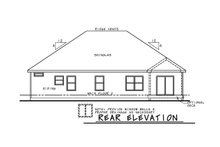 Farmhouse Exterior - Rear Elevation Plan #20-2351