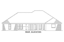 House Plan Design - European style home design, rear elevation