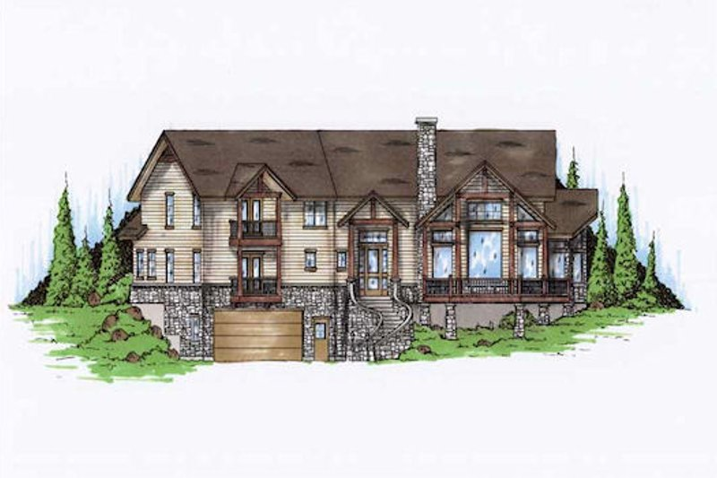 Home Plan - Traditional Exterior - Front Elevation Plan #5-393
