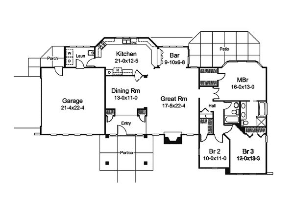 Dream House Plan - Modern Floor Plan - Main Floor Plan #57-688