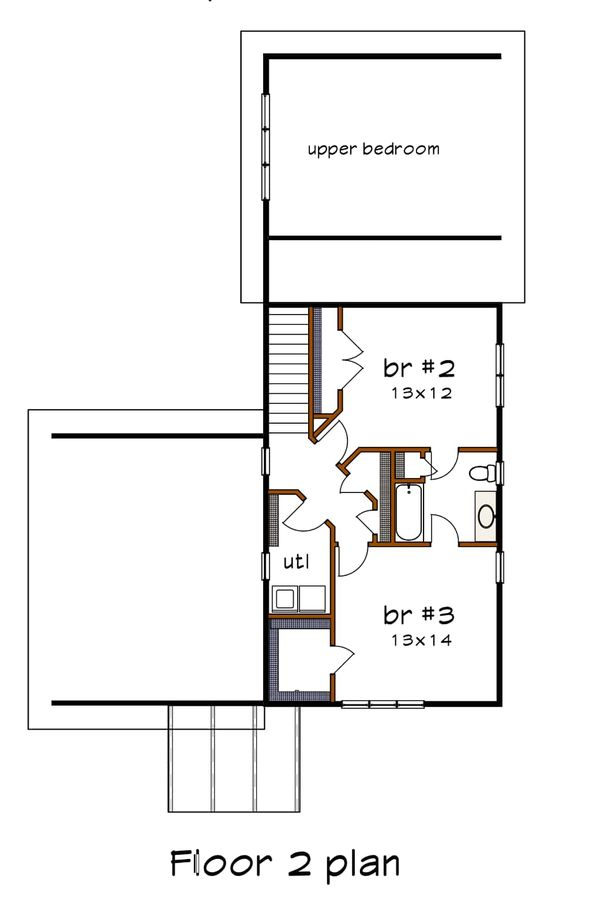 Dream House Plan - Modern Floor Plan - Upper Floor Plan #79-320