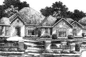 European Exterior - Front Elevation Plan #310-164