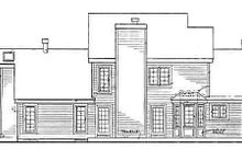 Country Exterior - Rear Elevation Plan #3-177