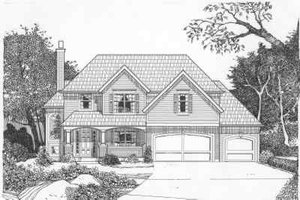 Traditional Exterior - Front Elevation Plan #6-148