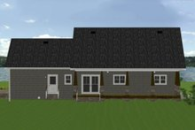 House Plan Design - Country Exterior - Rear Elevation Plan #44-197