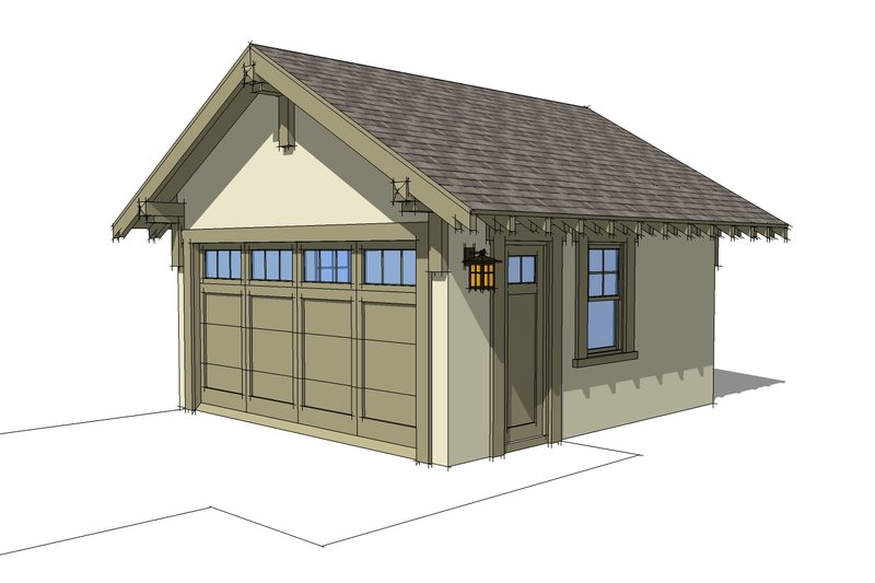 Craftsman Photo Plan #64-214 - Houseplans.com