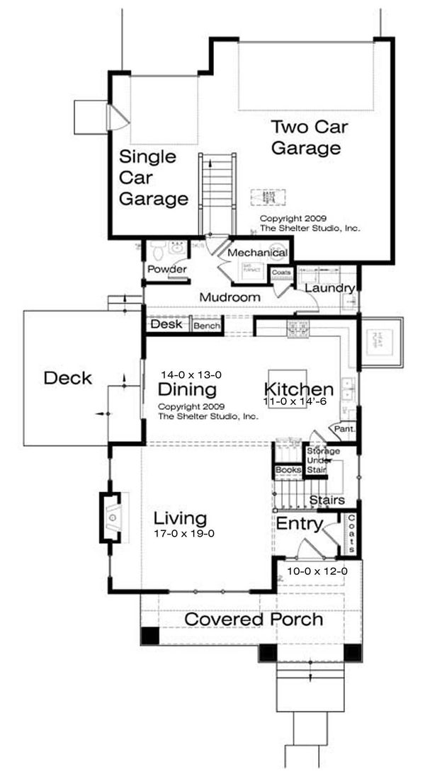 Prairie Floor Plan - Main Floor Plan Plan #434-11