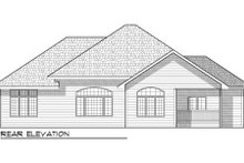 Dream House Plan - Bungalow Exterior - Rear Elevation Plan #70-948