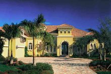 House Plan Design - Mediterranean Exterior - Front Elevation Plan #930-311