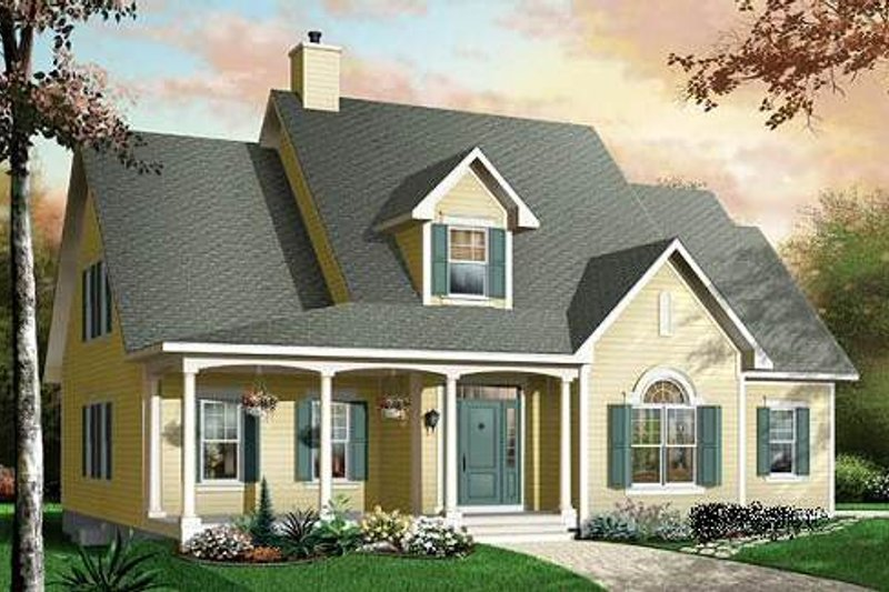 Country Exterior - Front Elevation Plan #23-395