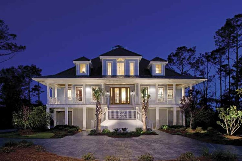 Architectural House Design - Country Exterior - Front Elevation Plan #930-142