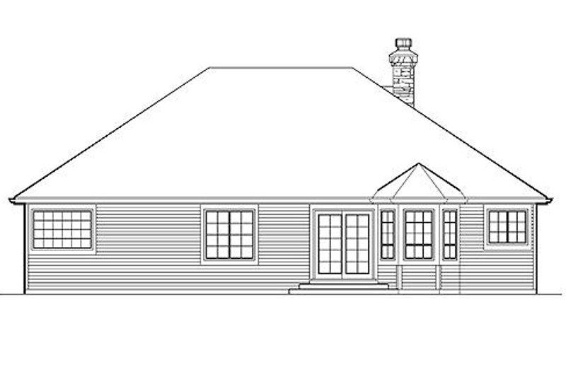 Traditional Exterior - Rear Elevation Plan #48-406 - Houseplans.com