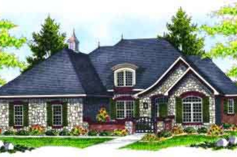 Home Plan - European Exterior - Front Elevation Plan #70-637