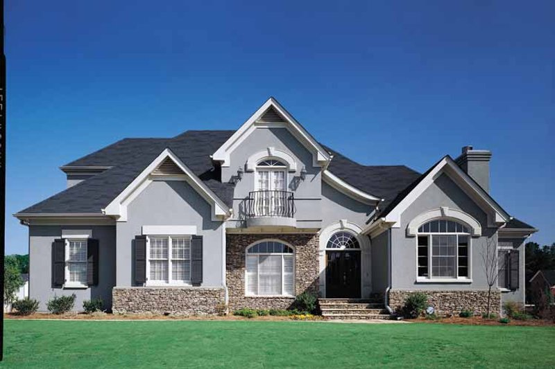 House Plan Design - Country Exterior - Front Elevation Plan #429-63