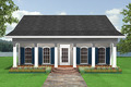 Southern Style House Plan - 2 Beds 1 Baths 1097 Sq/Ft Plan #44-148 Exterior - Front Elevation