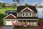 Traditional Style House Plan - 4 Beds 2.5 Baths 2447 Sq/Ft Plan #70-1200 Exterior - Front Elevation