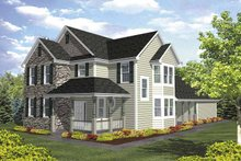 Country Exterior - Front Elevation Plan #320-842