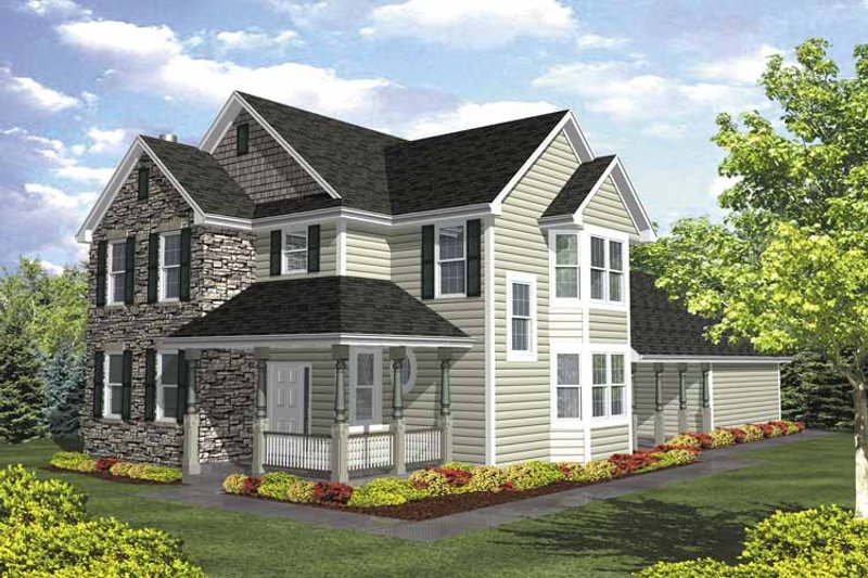 Country Exterior - Front Elevation Plan #320-842 - Houseplans.com