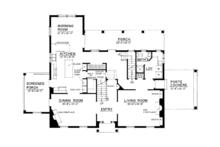 Colonial Floor Plan - Main Floor Plan Plan #1016-100