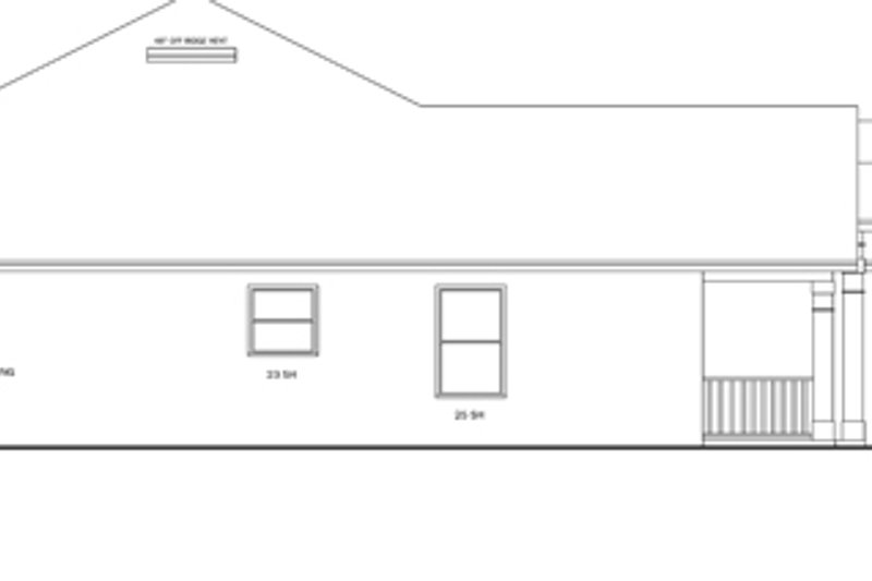 Ranch Exterior - Other Elevation Plan #1058-28 - Houseplans.com
