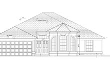 Mediterranean Exterior - Front Elevation Plan #1058-36