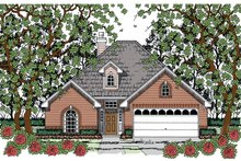 Dream House Plan - Traditional Exterior - Front Elevation Plan #42-725