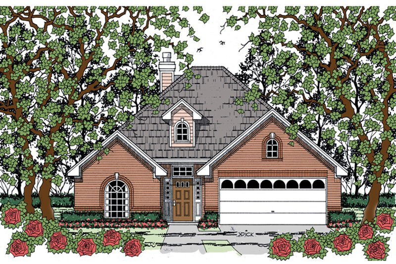 Traditional Exterior - Front Elevation Plan #42-725 - Houseplans.com