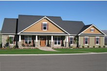 Craftsman Exterior - Front Elevation Plan #21-434