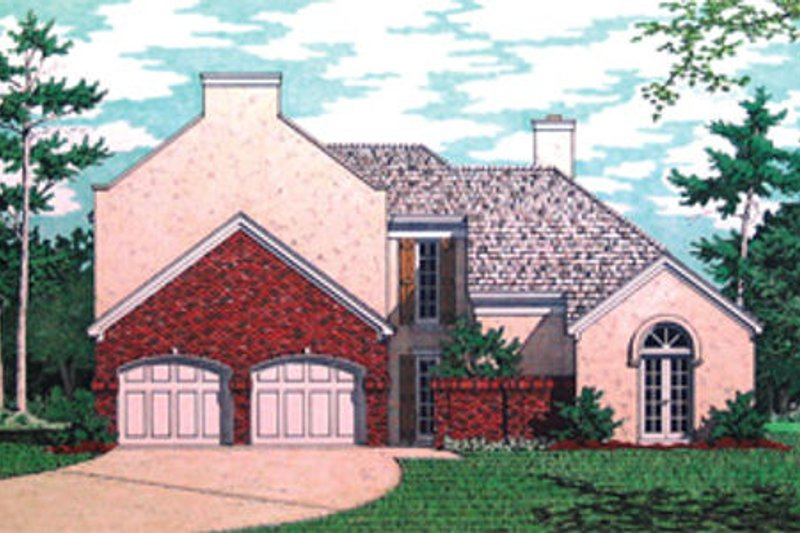 Mediterranean Exterior - Front Elevation Plan #45-349