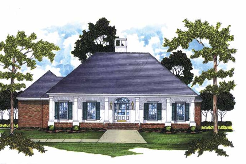 Dream House Plan - Classical Exterior - Front Elevation Plan #36-553