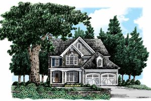 Architectural House Design - Country Exterior - Front Elevation Plan #927-318