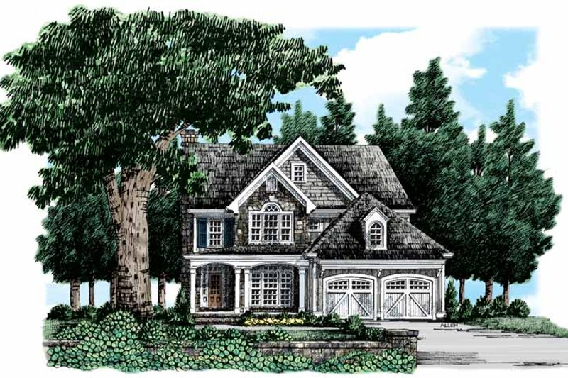House Plan Design - Country Exterior - Front Elevation Plan #927-318