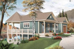 Country Exterior - Front Elevation Plan #23-2478