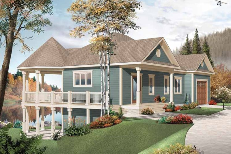 Country Style House Plan - 3 Beds 2 Baths 2072 Sq/Ft Plan #23-2478