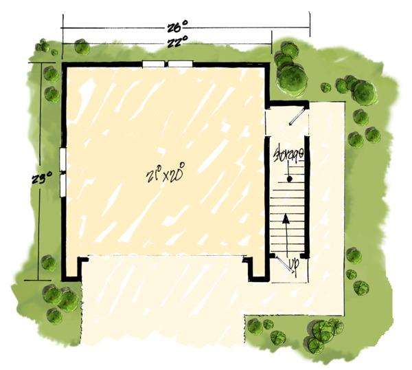 Traditional Floor Plan - Main Floor Plan Plan #942-53