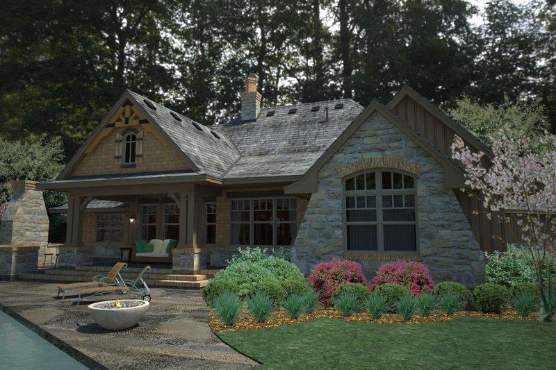 Craftsman Exterior - Rear Elevation Plan #120-191 - Houseplans.com