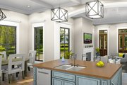 Ranch Style House Plan - 3 Beds 2 Baths 1927 Sq/Ft Plan #406-9655 Interior - Kitchen